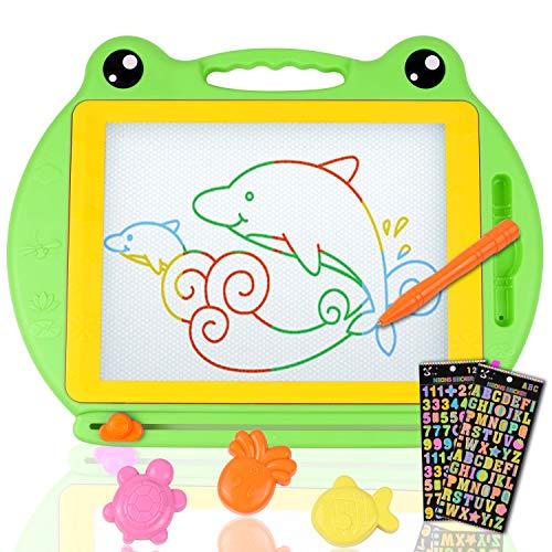 Umitive Pizarra Grande Magnética Colorido Tablero de Dibujo Infantil, Almohadilla Borrable Tablero...