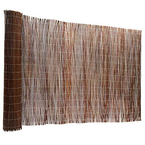 Floordirekt Weidenzaun | 5 Größen | Weidematte | Weidenmatte | Sichtschutz | Dekorative Zäune (200x500 cm)