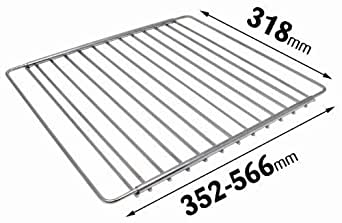 Universal Chrome Plated Adjustable Extendable Oven Cooker Shelf Rack Grid Compatible with AEG Electrolux Zanussi Cookers