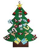 QQPOW DIY árbol de Navidad de Fieltro Regalo para niños Decoraciones colgantes...