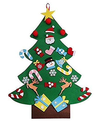 QQPOW DIY árbol de Navidad de Fieltro...