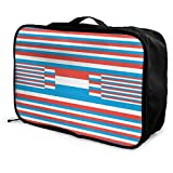 Portable Luggage Duffel Bag Luxemburg Flag Travel Bags Carry-on In Trolley Handle