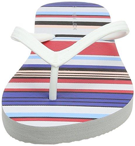 Durchgängies Multicolor multi 2 Senhoras Novo Olhar Listra pack colorida Plateausandalen AWtARqZvw