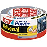 Tesa Extra Power Universal - Cinta americana, 25 m x 50 mm, color plata