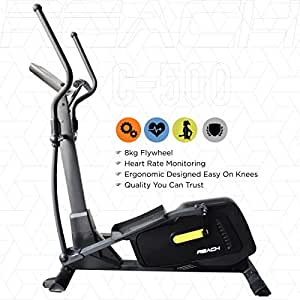 Reach Elliptical Cross Trainer Machine for Cardio Fitness Strength Conditioning Workout at Home (8 kg Flywheel)