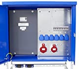 as - Schwabe Baustromverteiler SVEV 3 CEE-Stromverteiler für Baustelle, Aussen und Outdoor, IP44, 16A, 32A, 63A, 1 Stück, blau, 61142
