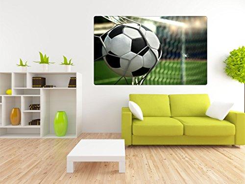 Fussball Tor 3D Look Wandtattoo 70 x 115 cm Wanddurchbruch Wandbild Sticker Aufkleber DesFoli © R412 (Wand, Fußball-tor)