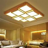 BRIGHTLLT Kreative Würfel Holz Deckenleuchte japanischer Holz- LED-Lampe Massivholz Schlafzimmer, Wohnzimmer 670 mm