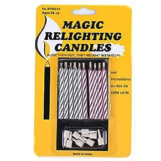 AIU 10 Stück Magische Kerzen - Magic Relight Lustige Geburtstagskerzen Nicht ausblasbare