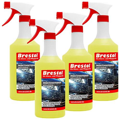 INSEKTENENTFERNER 4x 750 ml gebrauchsfertig (7450) -- Insektenlöser Polycarbonat geeigneter Insektenreiniger Vogelkotentferner Spezialreiniger alkalisch - original Brestol