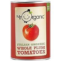 Sr. Orgánica tomates pelados enteros ciruelo 400g