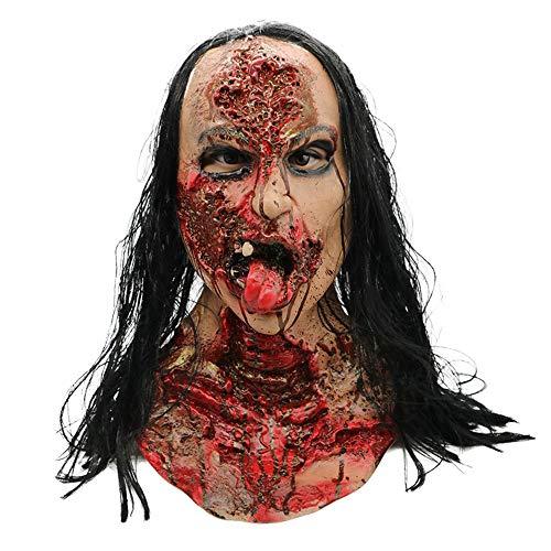Walking Dead Vollkopf Maske, Resident Evil Monster Maske, Zombie Kostüm Party Latex Maske Für - Evil Dead Kostüm