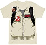 Ghostbusters Executioner Stantz Full Kostüm with Backpack Print Sand Erwachsene T-Shirt (Medium)