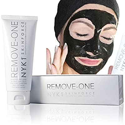 *NEW* NYK1 REMOVE ONE Layer of Dead Skin Cells, Dirt, Debris in an Instant. Blocked Pore Remover. Super Powerful Exfoliation Mask. Exfoliating Cleanser for Full Face & Body. IMMEDIATE ANTI-AGEING Results. Bamboo Carbon Charcoal Peel Off Black Mask Exfolia
