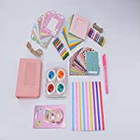 DHOUTDOORS 8 in 1 Instant Bundles Mini Accessories for FujiFilm Instax Mini 9 8 Camera Pink