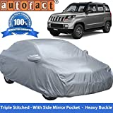 #10: Autofact Premium Silver Matty Triple Stitched Car Body Cover with Mirror Pocket for Mahindra TUV 300