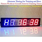Jumbo hiit Crossfit Fitness Intervall Training Timer Best für Gym/Boxen/Laufen/Kettlebells Cardio-Und Tabatha Workouts/W Fernbedienung größere LED Digital Wanduhr Moderne Design Home Decor - 2