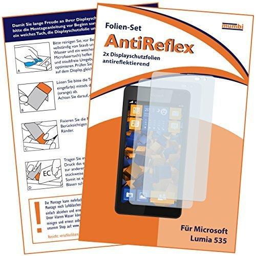 2 x mumbi Displayschutzfolie Microsoft Lumia 535 Schutzfolie AntiReflex matt