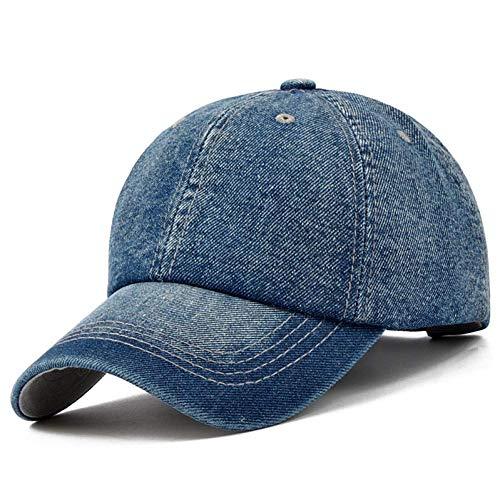 Blank Denim-denim (SCJ Baseball Cap Baseball Cap Männer Snapback Cowboy Caps Hüte für Frauen Bone Jeans Denim Blank Plain Hat)