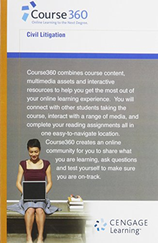 Course360 Civil Litigation Access Code por Cengage Learning