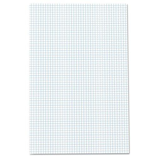 Ampad Quadrille Pad, 11x 17, doppelseitig, Weiß, 4X 4QUAD Rule, 50Blatt, 1Pad (22-037) (Graph-pad-11x17)