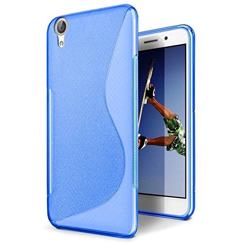 CoolGadget Huawei Ascend G630 Hülle, Ultra Thin Tasche Cover Schlank Weich Flexibel Anti-Kratzer Schutzhülle Abdeckung Case, Silikon Cover für Ascend G630 Blau-Case