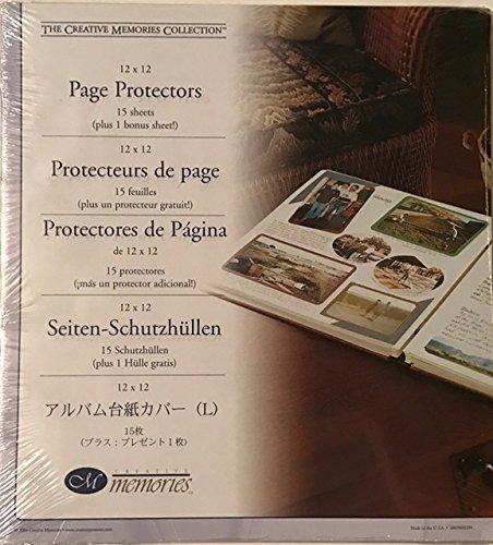 Creative Erinnerungen Collection 12x 12Seite Protektoren Refill Seiten-Enthält 15Blatt (Plus 1Bonus Blatt) -