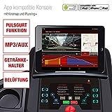Sportstech F28 Profi Laufband mit Smartphone App Steuerung + Google Street View + Pulsgurt + 5 Zoll MP3 AUX Bluetooth 5 PS 18 km/h HRC Training – Pulsgurt inklusive – TÜV geprüft - 3