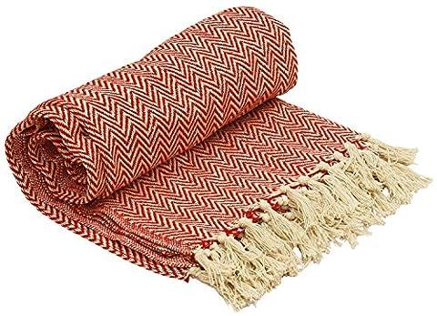 SouvNear 100% Cotton Southwest Throws - Chevron Herringbone Hand Woven