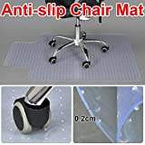 Popamazing Hard Carpeted Chair Mat Floor Protector 90 x 120cm Anti-slip for Home Office Use