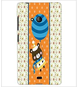 PrintDhaba Teddy D-2759 Back Case Cover for MICROSOFT LUMIA 540 (Multi-Coloured)