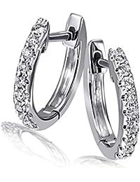 Goldmaid - Boucles d'oreilles - Or blanc  - Diamant - Me O06229WG585