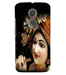 ColourCraft Lord Krishna Design Back Case Cover for MOTOROLA MOTO X2