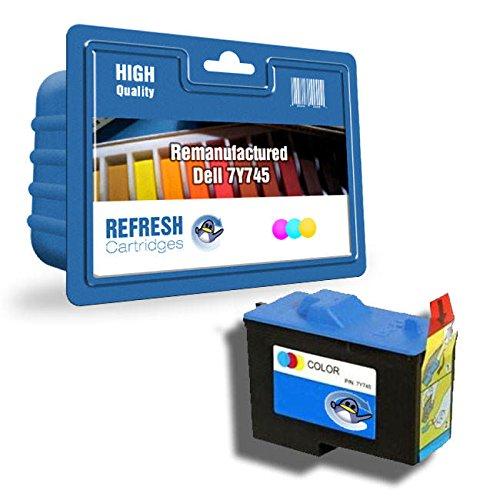 Wiederaufgefüllt Dell 7Y743/7Y745 Tintenpatronen einzeln & Multi Packungen von Erneuerung Patronen - dreifarbig (Tintenpatrone 7y743)