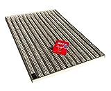 ACO Winkelrahmen 60 x 40 cm mit Schuhabstreifer Rips hellgrau und Schnurwasserwaage