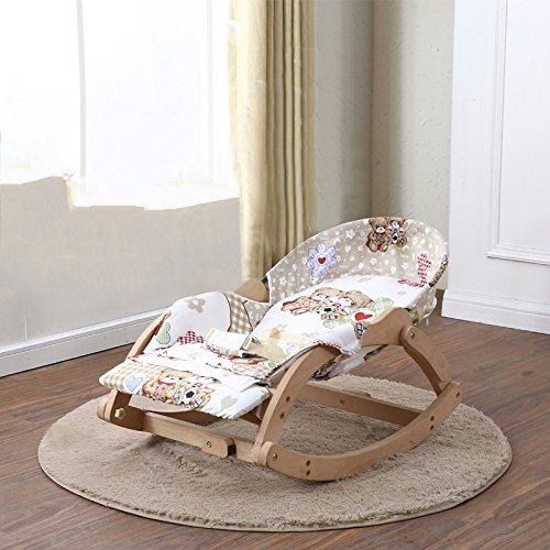 Baby sedia a dondolo poltrona reclinabile per bambini sedia a dondolo culla per bambini bb letto supporto artefatto in legno massiccio,a