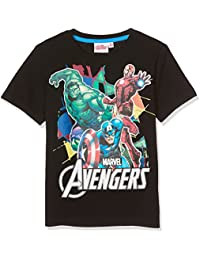 Avengers Assemble Boys Short Sleeve T-Shirt - black