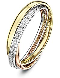 Amazoncouk 3 Colour Gold Rings Women Jewellery
