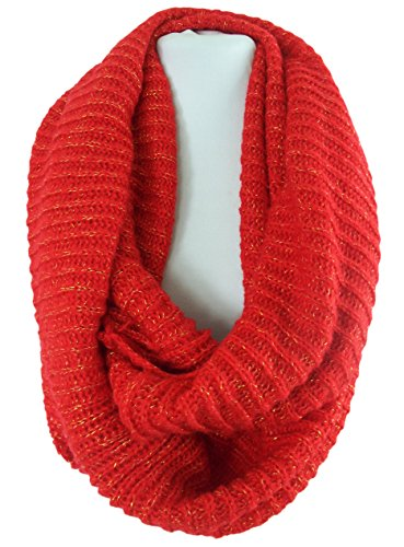 GFM Fastglas Infinity Écharpe tour de cou pour femme avec fermeture Velcro Noir - Rouge