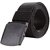 Liqy Nylon Canvas Breathable Military Tactical Men Waist Belt With Plastic Buckle - Able to keep it on Through security Check