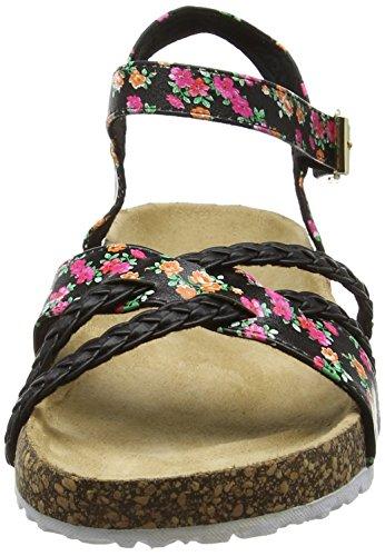 Joe Browns Damen Fun and Funky Footbed Sandals Absatz Black (Black Multi)