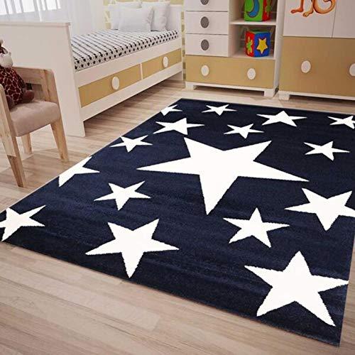 Fashion4Home Kinderteppich Sky Sterne   Kinderteppich für Mädchen und Jungen   Teppich für Kinderzimmer   Stern   Blau Rosa   Schadstofffrei Kinderzimmerteppiche geprüft von Öko-Tex (Teppiche Kinderzimmer Junge Für)