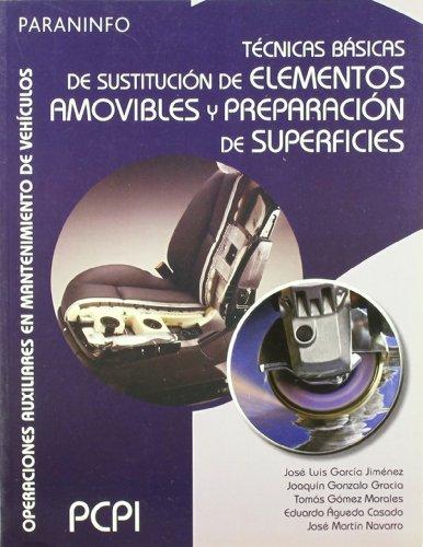 Técnicas básicas de sustitución de elementos amovibles y preparación de superficies por EDUARDO ÁGUEDA CASADO