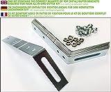 Kit pattes de fixation PVC & zinc (1.5 mm (pour PVC)  2 versants)