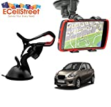 ECellStreet TM Mobile phone soft tube mount holder with suction cup - Multi-angle 360° Degree Rotating Clip Windshield Dashboard Smartphone Car Mount Holder DATSUN Go Plus
