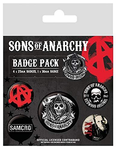 Internationale Kostüm Verschiedene - Sons of Anarchy, Abzeichen Packung, 10 x 12.5 cm