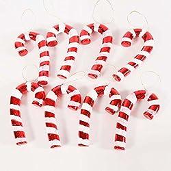 Alta - grado stampelle albero di Natale decorazione scena di Natale placcatura stampelle rossi e bianchi