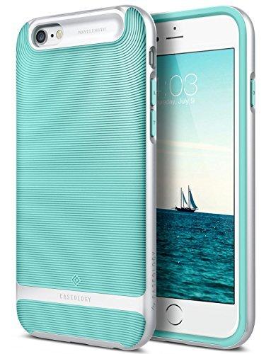 Caseology Funda iPhone 6, [Serie Wavelength] Delgada Doble Capa con Proteccion sujecion tactil 3D [Menta Verde - Mint Green] para el Apple iPhone 6 (2014) & iPhone 6S (2015)