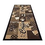 HOMEFACTO:RI Küchenläufer Küchenteppich Teppichläufer Läufer Kaffee Cafe Coffee | waschbar, Größe:ca. 60 x 180 cm, Designs:Kaffee | beige braun - 4