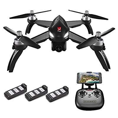 Goolsky MJX Bugs 5W 1080P 5G Wifi FPV Camera GPS Positioning Altitude Hold RC Drone Quadcopter with 3 Batteries